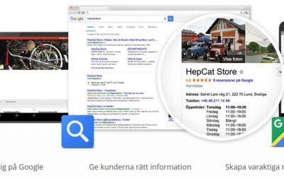 Syns på Google gratis med Google My Business