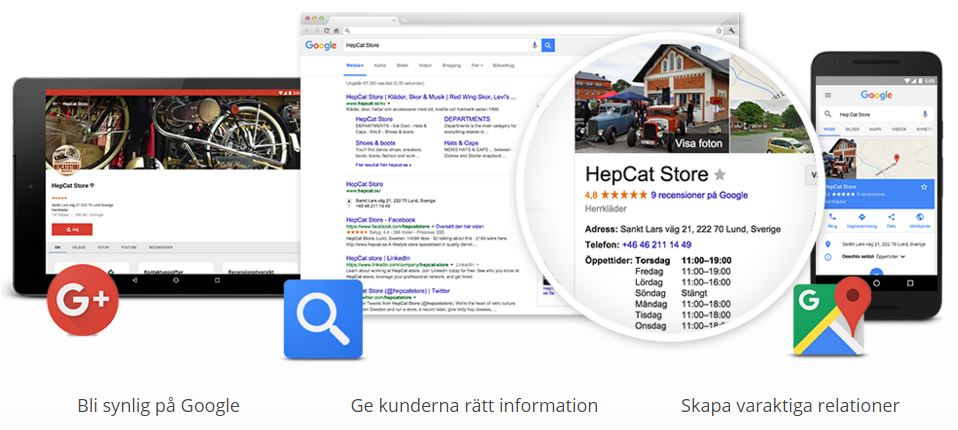 Syns på Google gratis med Google My Business