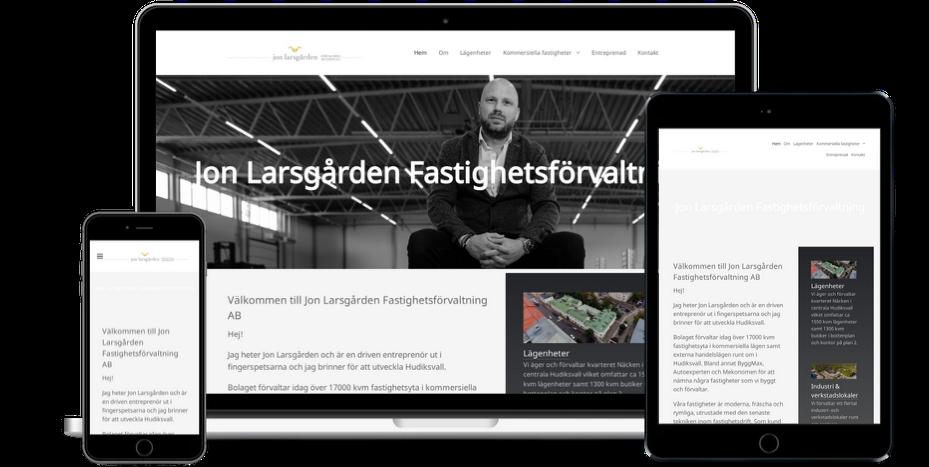 Jon Larsgården Fastighetsförvaltning hemsida